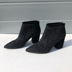 Jeffrey Campbell Total mesh embroidered booties